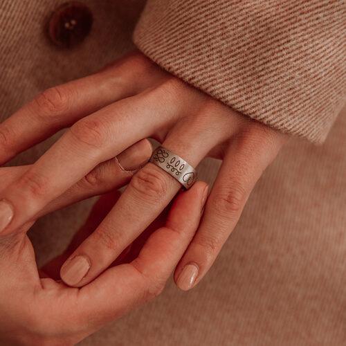 energijski prstan srebro