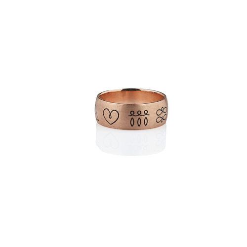 energijski prstan rose gold
